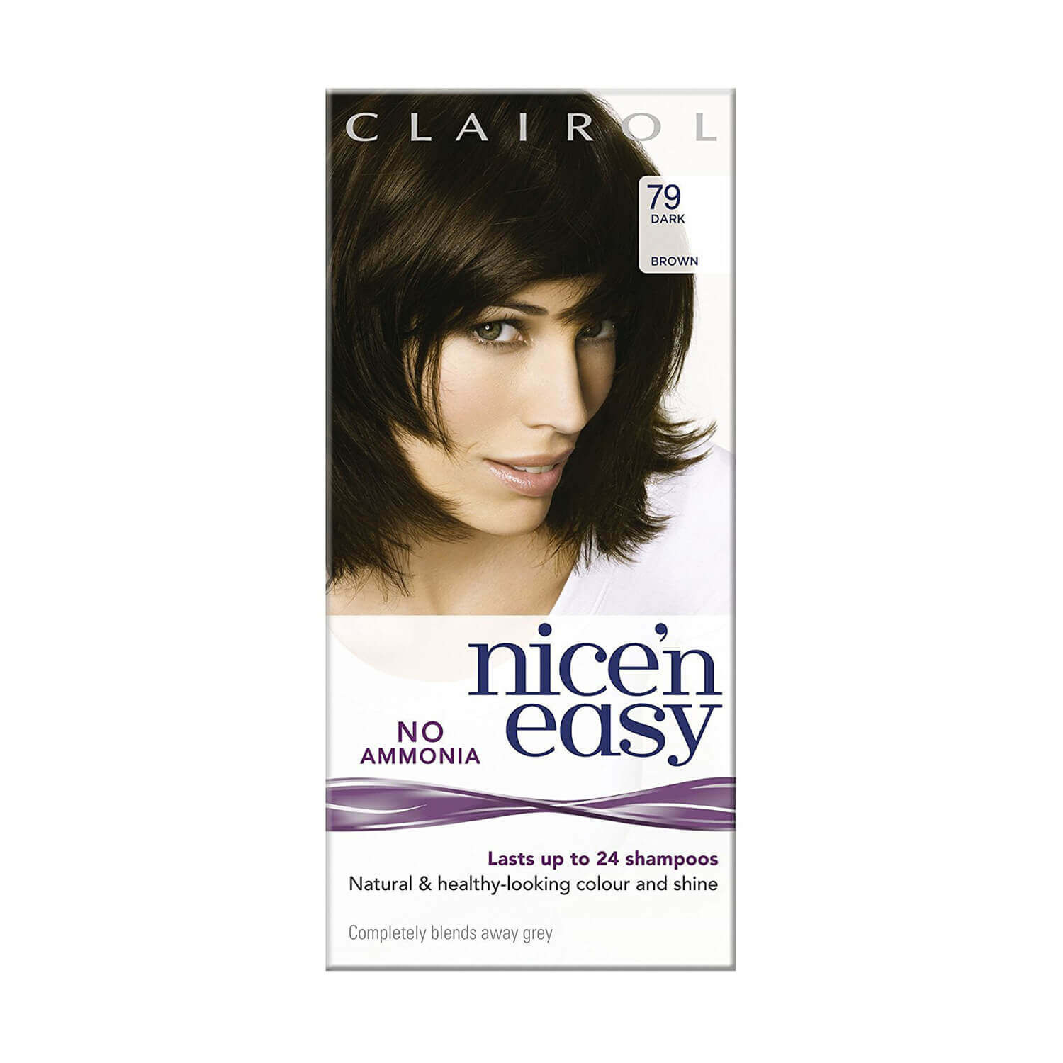 Image of Clairol Nice 'n Easy No Ammonia Hair Dye Dark Brown 79