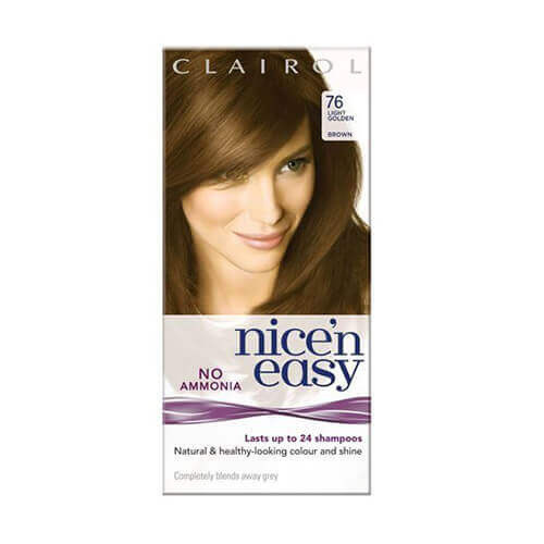 Image of Clairol Nice 'n Easy No Ammonia Hair Dye Light Golden Brown 76