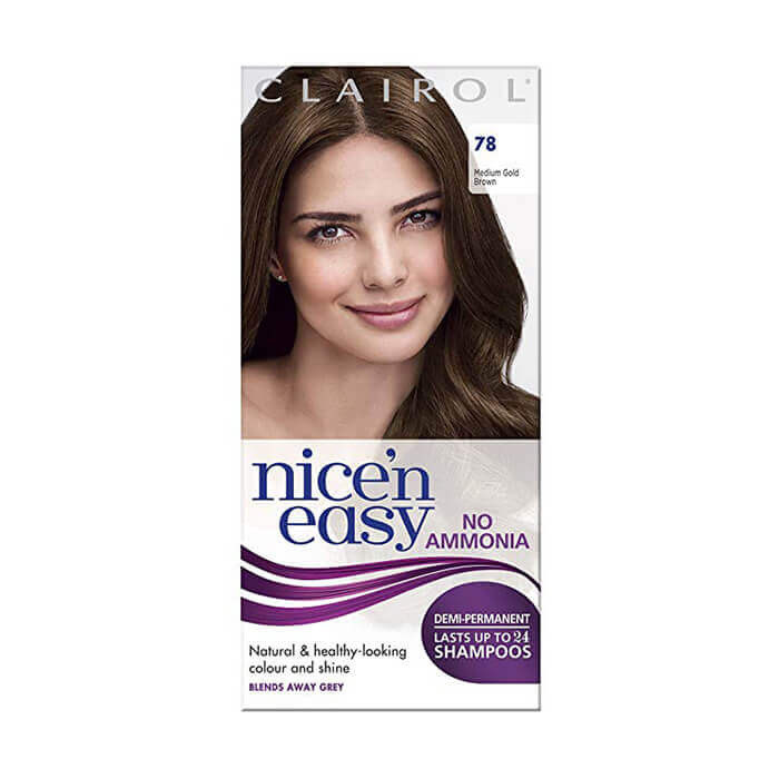 Image of Clairol Nice 'n Easy No Ammonia Hair Dye Medium Golden Brown 78