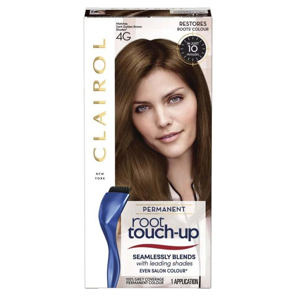 Clairol Nice n Easy Root Touch Up Permanent Dark Golden Brown 4G