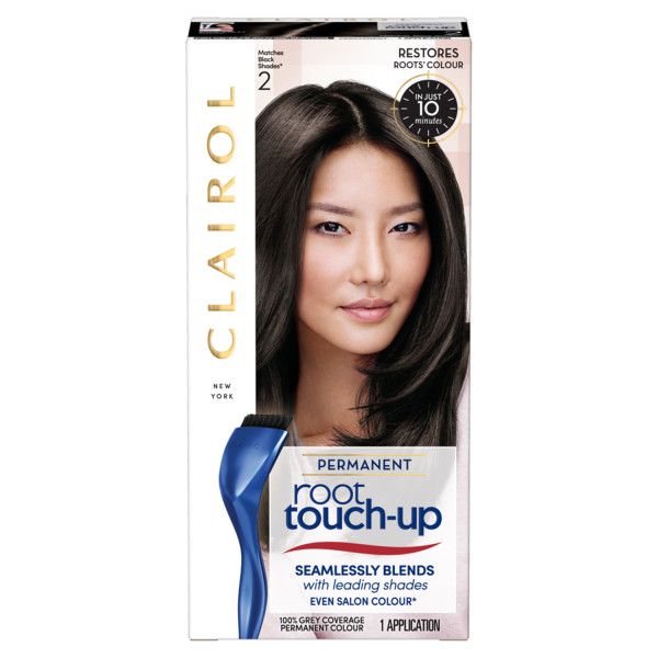 Clairol Root Touch-Up Hair Dye, 2 Black