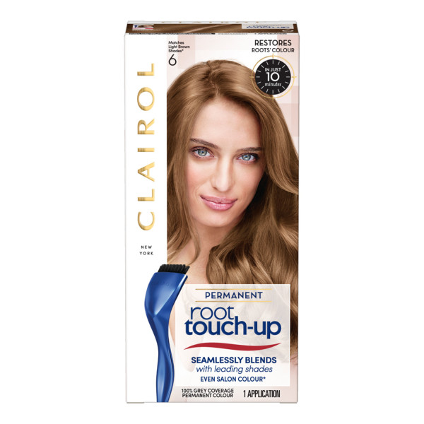 Clairol Root Touch-Up Hair Dye, 6 Light Brown