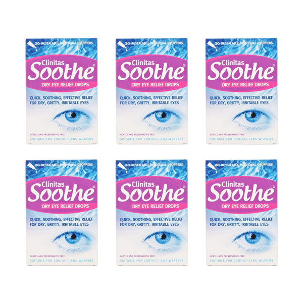 Clinitas Soothe Lubricant Eye Drops 6 Pack