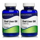 Cod Liver Oil Soft Gels 1000mg - Twin Pack