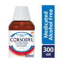 Corsodyl Gum Problem Treatment Mouthwash Chlorhexidine Digluconate 0.2% Alcohol Free Mint  300ml