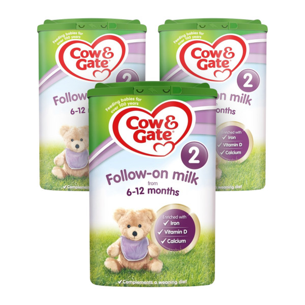 Cow & Gate 2 Follow On Baby Milk Formula Triple Pack