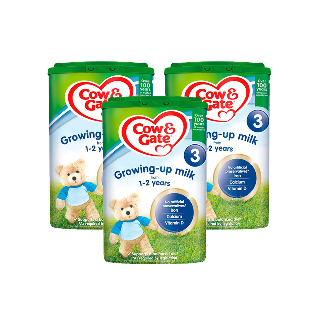 Cow & Gate Growing Up Milk 1-2 Years 900g x3