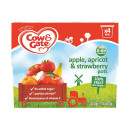 Cow & Gate 4-6months 100% Fruit Apple, Apricot & Strawberry Fruit Cups