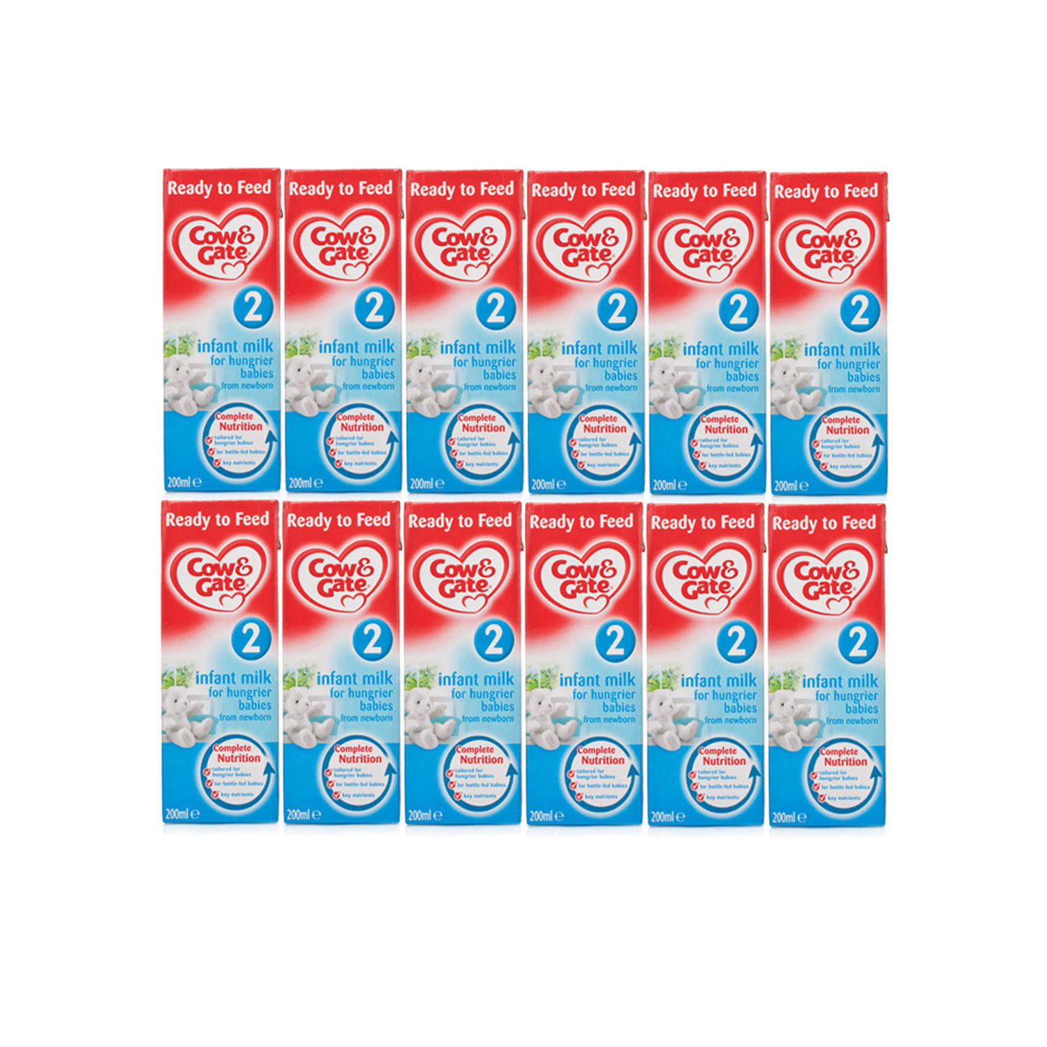 Click to view product details and reviews for Cow Gate Stage 2 Hungrier Baby Milk Ready To Feed Milk 12 Pack 200ml X 12.