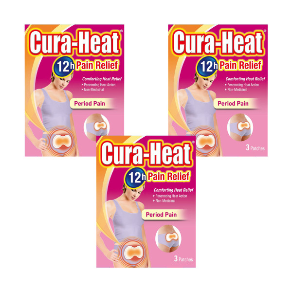 Cura-Heat Period Pain Triple Pack