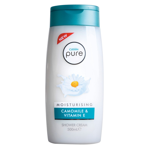 Cussons Pure Shower Gel Moist Chamomile and Vit E