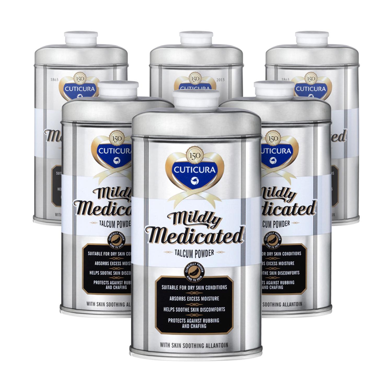 Cuticura Mildly Medicated Talcum Powder - 6 Pack