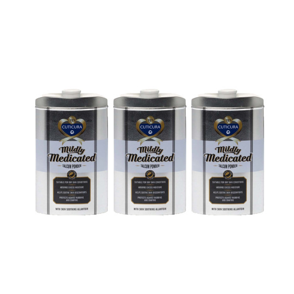 Cuticura Mildly Medicated Talcum Powder Triple Pack