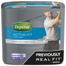 Depend Active Fit Underwear for Men Medium
