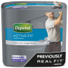 Depend Active Fit Underwear for Men Large