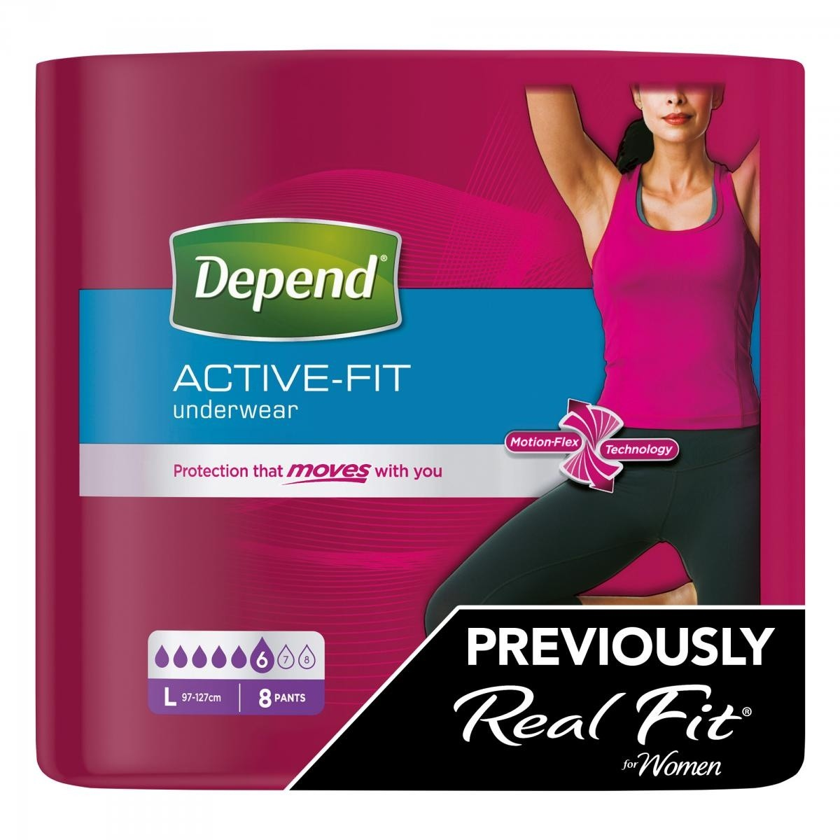 Depend Active Fit Incontinence Underwear For Women Maximum Absorbency Large