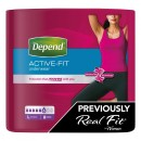 Depend Active Fit Incontinence Underwear for Women - Large