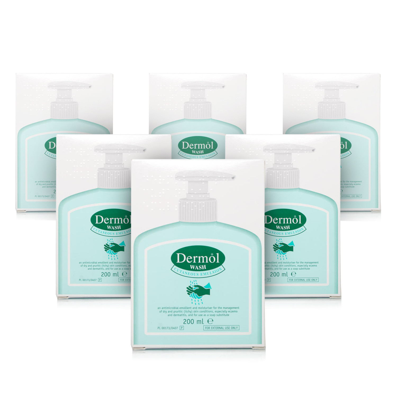 Dermol Wash Emulsion - 6 Pack