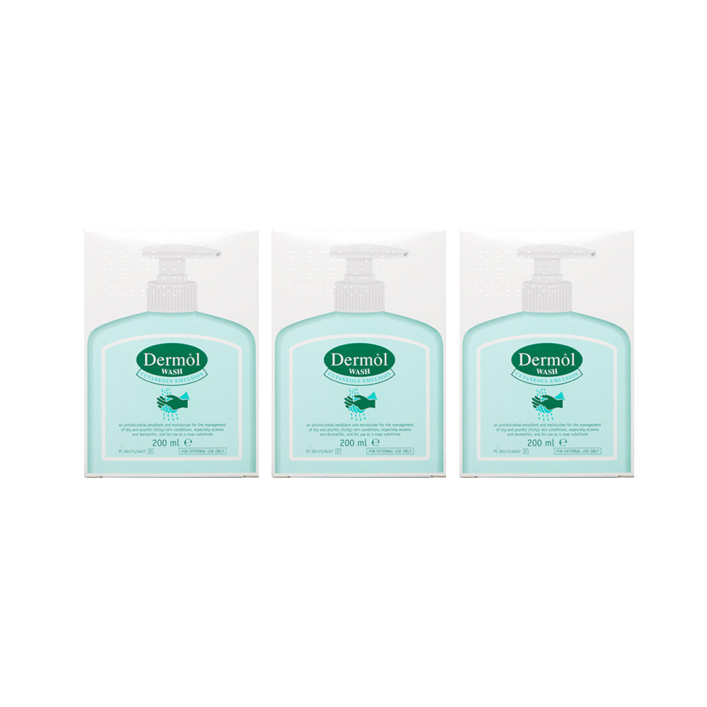Dermol Wash Emulsion Triple Pack