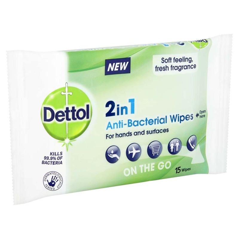 Dettol 2 in 1 Wipes