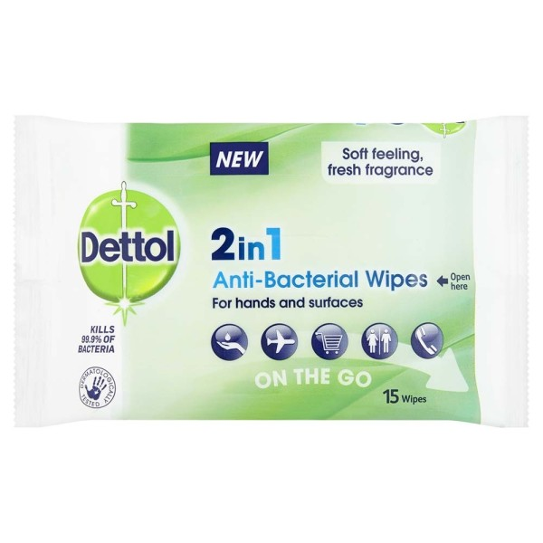 Dettol 2 in 1 Travel Wipes
