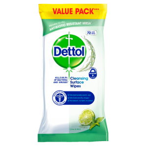 Dettol Antibacterial Surface Wipes Lime & Mint