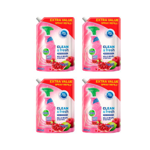 Dettol Clean & Fresh Multipurpose Cleaning Refill Spray Pomegranate x 4