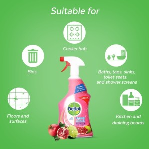 Dettol Clean and Fresh Multi-Purpose Cleaning Spray, Pomegranate & Lime Splash