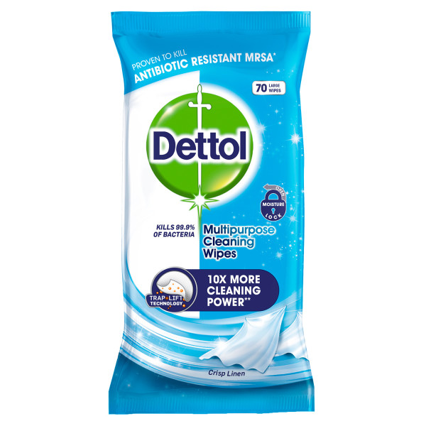 Dettol Multipurpose Cleaning Wipes Crisp Linen