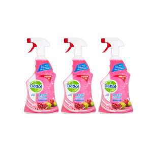 Dettol Power & Fresh Multi-Purpose Spray Pomogrenate & Lime x3