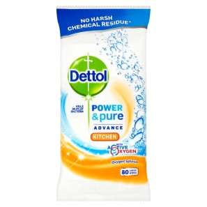 Dettol Power & Pure Kitchen Wipes