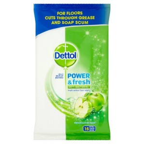 Dettol Power & Fresh Antibacterial Multi Action Floor Wipes
