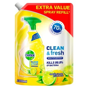 Dettol Clean & Fresh Multi-Purpose Cleaning Spray Refill Lemon