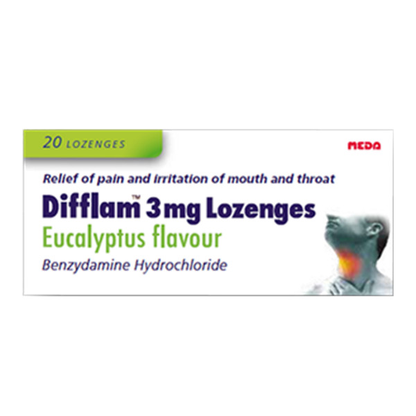 Difflam 3mg Lozenges Eucalyptus Flavour