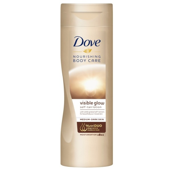 Dove Visible Glow Body Lotion Medium to Dark Gradual Self Tan