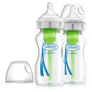 Dr Browns Options+ Anti-Colic Glass Bottle Twin Pack