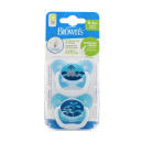 Dr Browns Prevent Soother 0-6month Blue Twin Pack