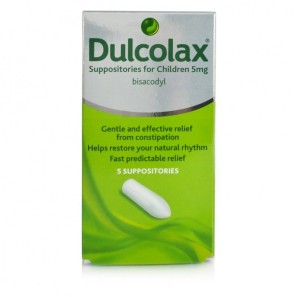 Dulcolax Suppositories For Children 5mg