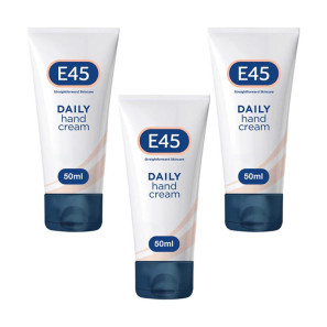 E45 Daily Hand Cream Fast Absorbing 50ml - 3 Pack