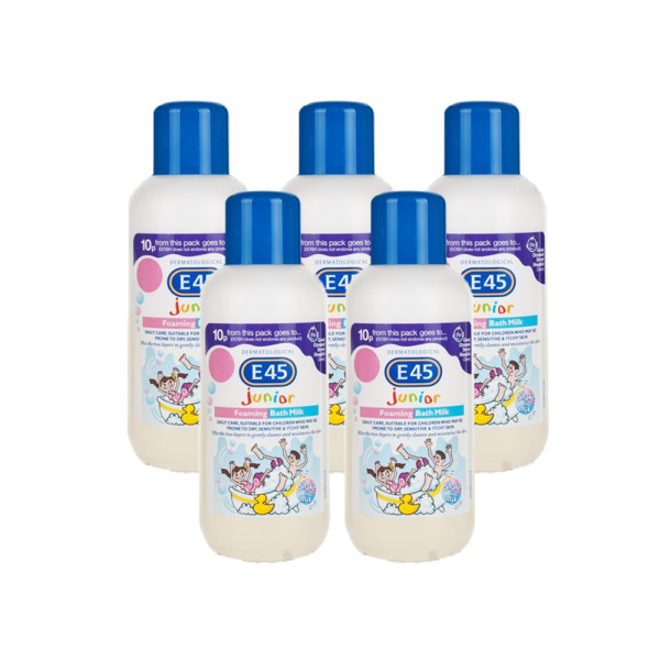 E45 Junior Foaming Bath Milk - 5 Pack