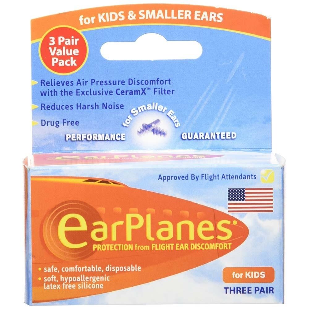 Earplanes Kids Smaller Ears Earplugs Protection 1 Pair