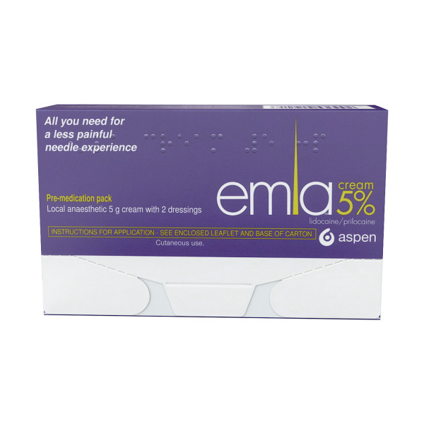 Emla Cream 5% 5g With 2 Dressings