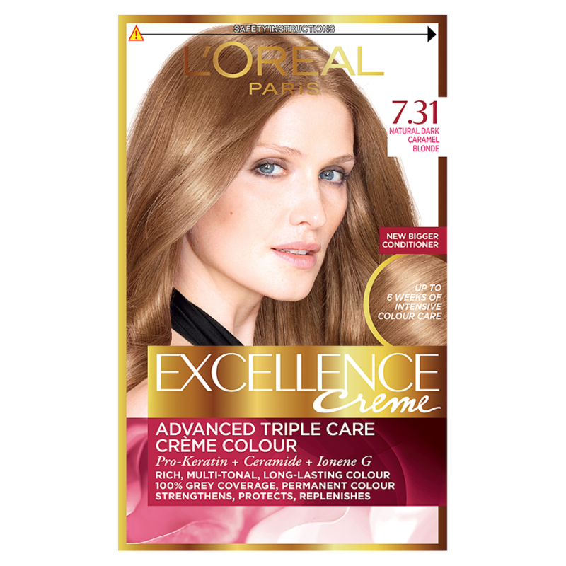Loreal Excellence Creme 731 Blonde Beige Hair Dye 1 Chemist Direct
