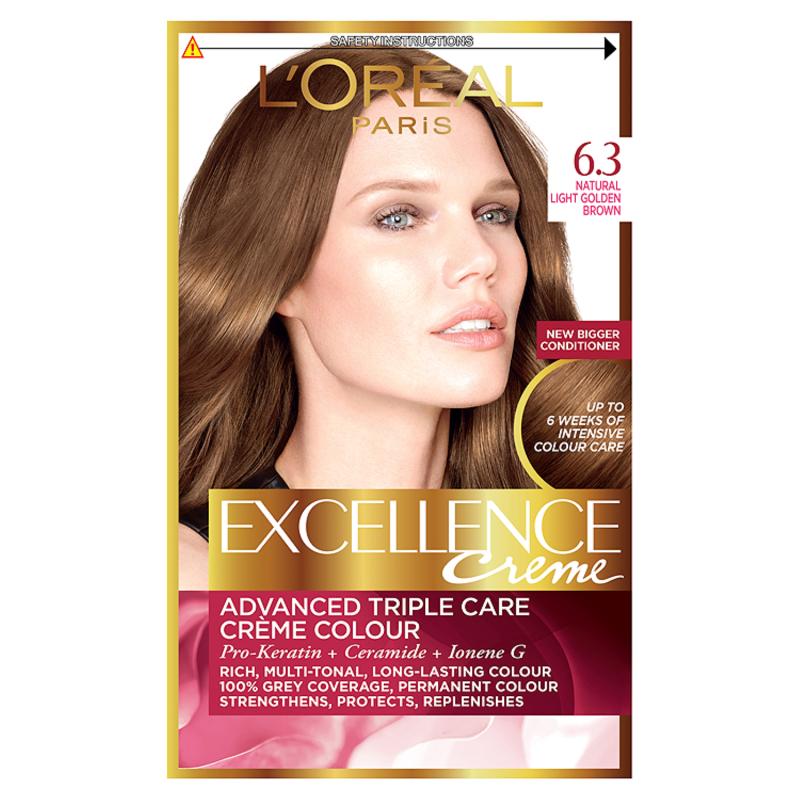 Buy Loreal Excellence Creme 63 Light Golden Brown Hair Dye