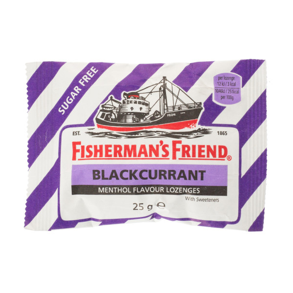Fishermans Friend Blackcurrant Sugar Free Lozenges