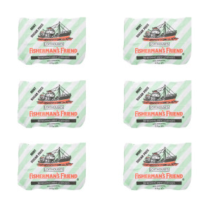 Fishermans Friend Mint Sugar Free Lozenge 6 Pack
