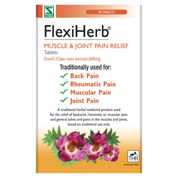 FlexiHerb Muscle & Joint Pain Relief Tablets