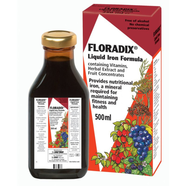 Floradix Liquid Iron Formula for Fatigue