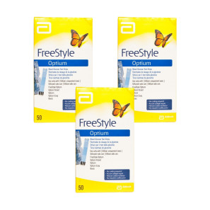 Freestyle Optium Plus Glucose Test Strips - Triple Pack