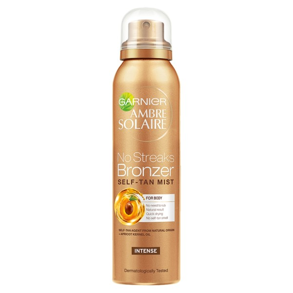 Garnier Ambre Solaire No Streaks Bronzer Self Tan Intense Body Mist